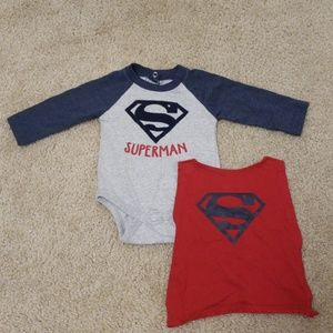 Other - Superman onesie with cape 0-3